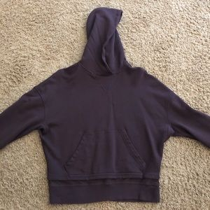 Lululemon dark purple somewhat crop sweatshirt.